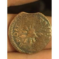 Una Moneda Cuartilla De Sonora 1/4 De Real
