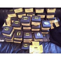 10 Caja Invitacion, Dulceros Cumpleaños Batman