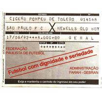 Ingresso Final Libertadores 1992 São Paulo Campeão Impecável