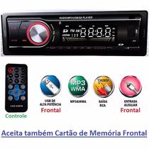 Som Automotivo Mp3 Wma Usb Sd Aux Controle Auto Radio Fm Rca