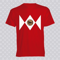 Camisetas De Power Rangers - Unbranded / Rojo Azul Negro