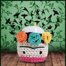 Mate De Ceramica Funda Crochet Modelo Frida