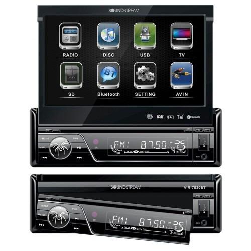 Autoestereo Pantalla 7 Soundstream Vir-7830b Dvd Bluetooth - $ 3,149.00 en Mercado Libre