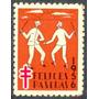 Estampilla Venezuela Viñeta Felices Pascuas 1956 - Nueva
