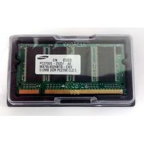 Memória Samsung Ddr 512mb 333 Pc2700 Para Notebook