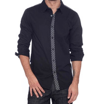 Camisa Guess Casual Fashion Slim Fit Fiesta Shirt Talla L