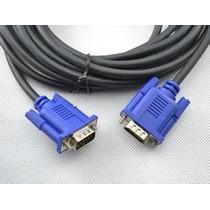 Cable Vga 5mts 5m Con 2 Fitromacho Macho A Macho