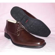 Zapato Botin Hombre Cafè 100% Cuero Antideslizante 40 41