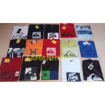 Kit 10 Camisetas Original Quiksilver Hurley Hangloose Volcom