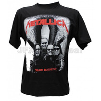 Camisa De Manga Curta Rock Banda Metallica Death Magnetic