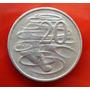 Moneda De 20 Centavos 1969 Elizabeth Ii Australia