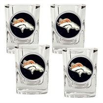 Broncos De Denver Shot Glass Juego De 2 Caballitos Ultimos
