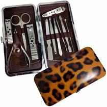 Kit Com Estojo Manicure Pedicure Completo 11 Peças Alicates