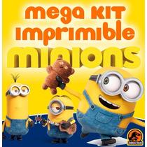 Kit Imprimible Minions, Fiesta, Editable, Powerpoint Regalos