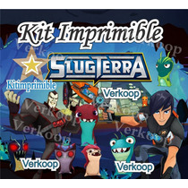 2x1 Kit Imprimible Bajo Terra Slug Terra Candy Bar Tarjetas