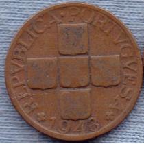 Portugal 20 Centavos 1943 * Republica * Cruz *