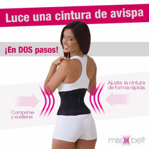 Faja Reductiva Miss Belt Tipo 70/30 Doble Compresion Lumbar