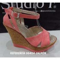 Sandalias De Plataforma Studio F, 100% Colombianas