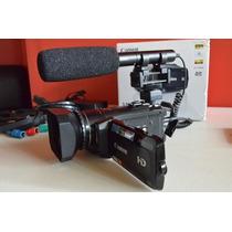 Videocámara Canon Full Hd Con Microfono Y Parasol