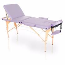 Mesa Maca Massagem Dobrável Divã Portátil Estética Lilás Cla