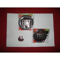 Kit Emblemas Fiat Vermelho Original- Palio-uno -...