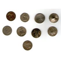 Curiosidad 9 Antiguas Monedas De $1 Mexicanas Dañadas
