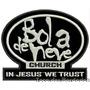 Patch Bordado Bola De Neve Church In Jesus We 8x10cm Rlg31