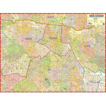 Mapa Gigante Do Centro Expandido De São Paulo - 1,20 X 0,90m