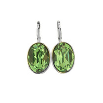 Swarovski Elements Aretes Patente Ovalo Erinite Gma
