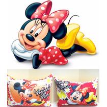 Bellas Almohadas De Minnie Mouse 20x27cm Disney Regalo