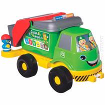Brinquedo Caminhão Coleta Seletiva Reciclagem Grande Com Som