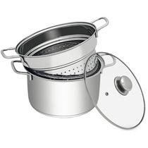 Espagueteira Macarrão Class Home Inox Tampa D Vidro 22cm 3pç