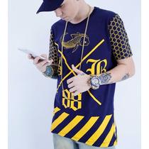 Camiseta Black Blue Lançamento Original - Tamanho M