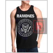 Regata Masculina Ramones Nirvana Camisetas Bandas Satiras