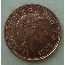 2199 Inglaterra 2005 Two Pence Elizabeth I I 26mm - Bronze