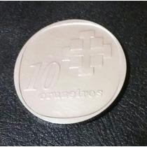 Moeda 10 Anos Banco Central Comemorativa Em Prata
