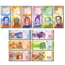 Billetes Venezuela Coleccion 6 Billetes Nuevos Hermosos Unc