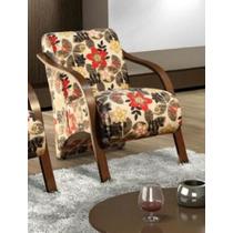 Poltrona Decorativa,poltrona Braço Madeira,cadeira