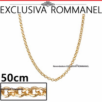 Rommanel Corrente Elo Portugues 50cm Folheada Ouro 530610
