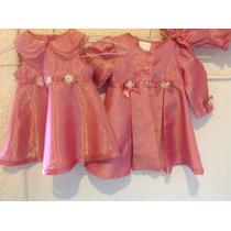 Conjunto De Vestido,abrigo Y Blumers Fiesta, Talla 1