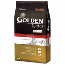 Golden Gatos Adulto Carne De 10kg - Ração Para Gatos.