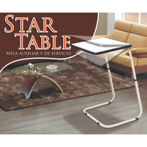 Mesa, Auxiliar Y De Servicio. Star Table Multi Usos
