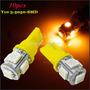 Focos Luz Led Para Auto Tipo Uña Color Amarillo <el Par&g