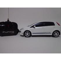 Carro Controle Remoto Fiat Punto T Jet Branco 1/18 Cks
