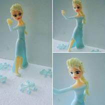 Adorno Torta Frozen Porcelana Fria . Elsa Y Ana
