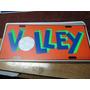 Volleybol - Placa Matricula De Acrilico 30 X 15 Cm - Volley