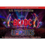 Kit Imprimible Acdc Ac Dc Candy Bar Cumple Ac/dc