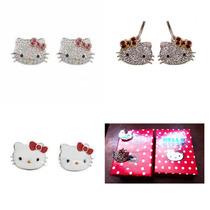 Aretes Hello Kitty Con Caja
