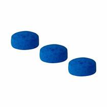 Sola De Couro 10 Mm Azul Para Taco De Sinuca 3 Peças (11421)