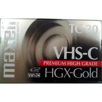 Cassette Videocassette Vhs-c Tc-30 Maxell Para Filmadoras